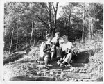Geneseo students in autumn at Letchworth State Park by Unknown