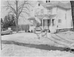 Front lawn snow sculpture, Geneseo, N.Y.